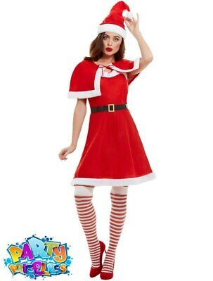 £11.99 • Buy Adult Miss Santa Claus Costume Ladies Father Christmas Fancy Dress Outfit Xmas