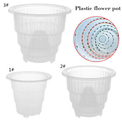 💙 Flower Pot Container Resin Orchid Plant Mesh Transparent For Home Decor UK • 3.99£