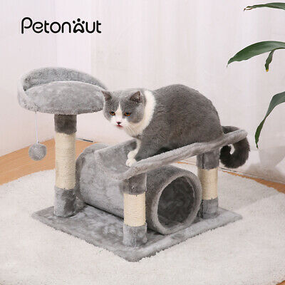 Cat Tree Activity Centre Scratching Post Tower Sisal Bed Tunnel Play House Toy • 22.99£