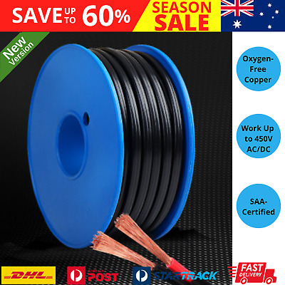 AU39.50 • Buy 2 CORE 4MM TWIN WIRE CABLE X 30M METRE BATTERY CARAVAN TRAILER 4X4 12V