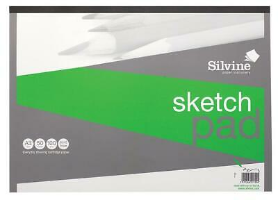 A3 100gsm Sketch Pad, Product Range Silvine 100gsm Sketch Pad, Writi For Silvine • 12.29£