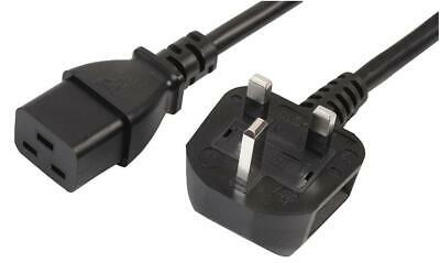 Uk Plug To Iec C19 Power Lead, 16a, 5m Black, Power Cable For Pro Elec • 13.15£