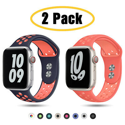 $ CDN10.09 • Buy 2 PACK 38/42/40/44mm Silicone Sport Band Strap For Apple Watch 6 5 4 3 IWatch SE