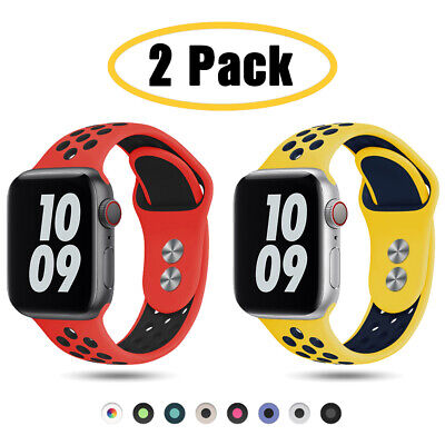 $ CDN9.67 • Buy 2 PACK 38/42/40/44mm Silicone Sport Band Strap For Apple Watch 6 5 4 3 IWatch SE