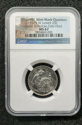 $ CDN189.85 • Buy 2019 W NGC MS67 First *W* Mint Mark Quarters *Lowell* Great American Coin Hunt