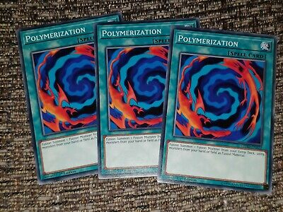 Yugioh Polymerization Common X3 Playset Mixed Sets / Editions  • 3.29£