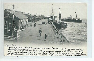 £5 • Buy  Printed Postcard Of The Landing Stage At Liverpool Docks Lancashire In Gc