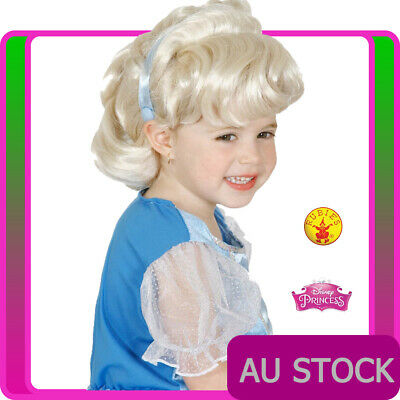 Girls Cinderella Wig Deluxe Disney Princess Fairy Tale Book Week Hair Wigs Kids • 9.69£
