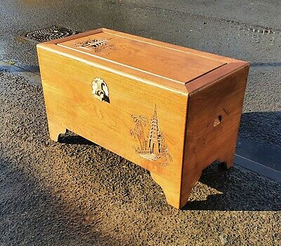 Vintage Chinese Camphor Wood Chest / Trunk    Repolished   Delivery Available • 225£