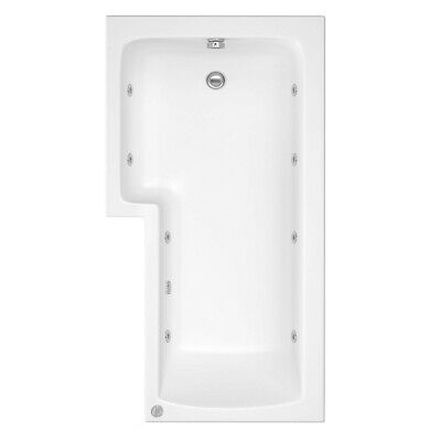 L Shape Shower Bath, Panel And Screen With 8 Jet Whirlpool Left Hand Right Hand • 499£