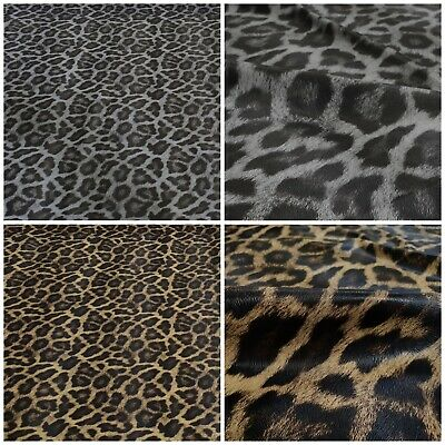 Leatherette Extra Soft Leather Imitation Fabric Clothing Very Stretch Leopard • 5.34£