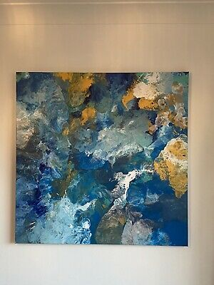 Large Ocean Abstract Painting • 55£