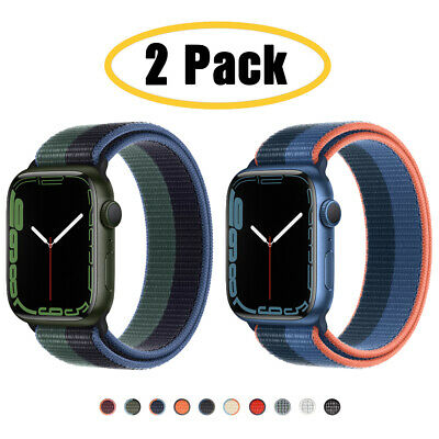 $ CDN8.63 • Buy 2 PACK 40/44mm Nylon Sport Band IWatch Strap For Apple Watch Series 6 5 4 3-1 SE
