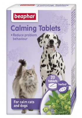 £3.99 • Buy BEAPHAR HERBAL CALMING TABLETS DOG CAT Anxiety Fireworks Stress