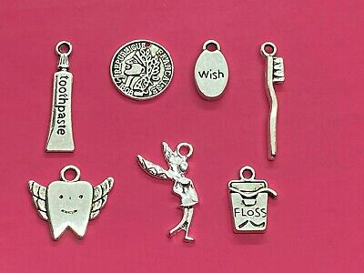 Tibetan Silver Tooth Fairy Mix Pack Of Charms 7 Per Pack  • 1.65£