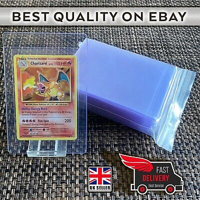 50 Semi Rigid Card Holders For PSA BGS Submissions Card Saver 1 Pokemon Yugioh • 16.49£