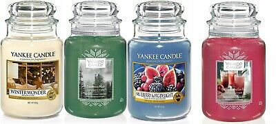 Yankee Candle Scented Fragrance Candles Home Fragrance Gift Large Glass Jar 623g • 18.50£