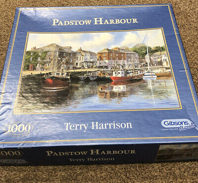 Jigsaw Padstow Harbour By Terry Harrison 1000 Pieces Pub. Gibson. • 4.80£