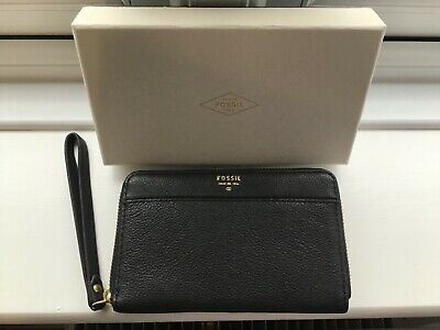 Fossil Black Leather Purse New  • 23.50£