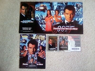James Bond 007 Tomorrow Never Dies Phone Cards Rare Unused In Special Folder • 90£