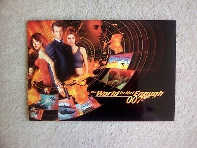 James Bond 007 The World Is Not Enough Phone Cards Rare Unused In Special Folder • 90£
