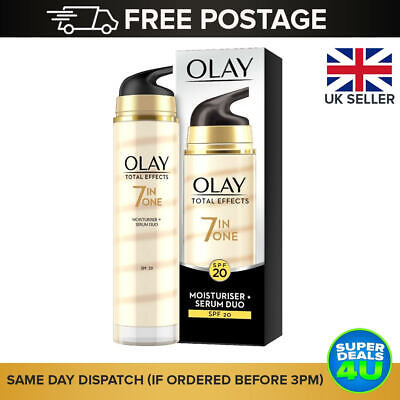 AU21.19 • Buy OLAY Total Effects 7 In O Moisturizer + Serum Duo SPF20 - **Free 🇬🇧 DELIVERY**