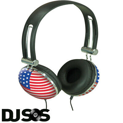 Stars And Stripes Cup Headphones Ideal IPod MP3 Vinyl Music Funky Retro Style DJ • 7.95£