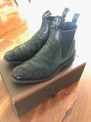 AU125 • Buy RM Williams Leather Boot Shoes - 7.5 H (Wide) - Black - Comfort Craftsman -