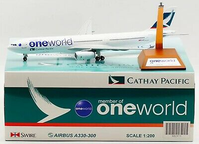 "AU169.95 • Buy Jc Wings 1:200 Cathay Pacific Airbus A330-300 ""One World"" Livery XX2972"
