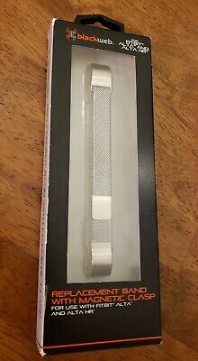AU13.11 • Buy Fitbit Alta Replacement Band Metal With Magnetic Clasp. Blackweb NEW.