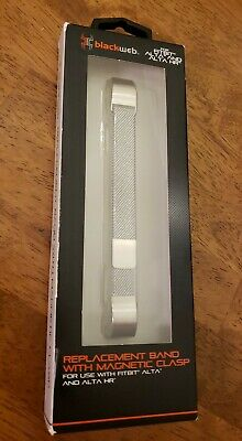 AU12.13 • Buy Fitbit Alta Replacement Band Metal With Magnetic Clasp. Blackweb NEW.