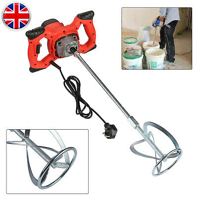Paddle Mixer Drill Electric Cement Stirrer Plaster Mixing Plastering Whisk 1600W • 42.99£