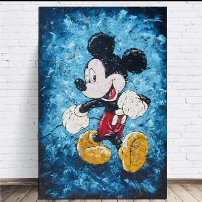 Disney Mickey Mouse Canvas Print Kids Room Cartoon Wall Art Picture • 15£