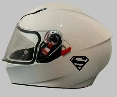 Motorcycle Helmet Sticker - Sticker/Decal For Crash Helmet | Superman Decal X 2 • 4.99£