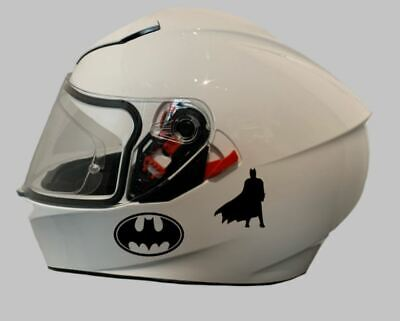Motorcycle Helmet Sticker - Sticker/Decal For Crash Helmet | Batman Decal X 2 • 4.99£