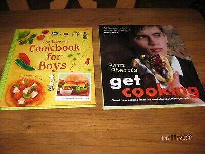 Boys Cookery Books Sam Stern ''Get Cooking'' And The Usborne ''Cookbook For Boys • 10£
