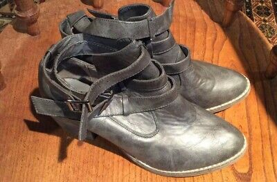 London Rebel Ankle Boots ....Grey....size 41/8...Worn Once ☘️FREEPOST • 11.30£