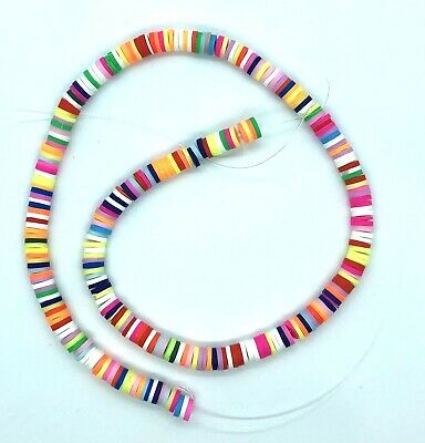 £2.65 • Buy 275 X Polymer Clay Beads Heishi Flat Round Spacer Beads - Size 6x1mm.