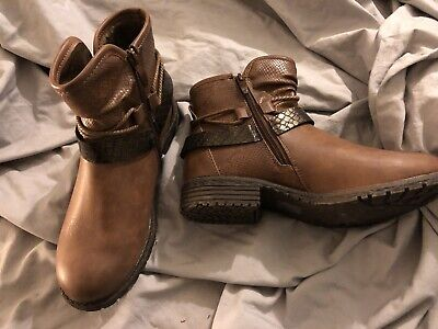BN Brown Leather Pavers Ankle Boots Sz 7 • 25£