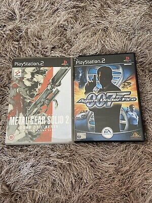 Ps2 Metal Gear Solid 2 And 007 Agent Under Fire • 4.99£