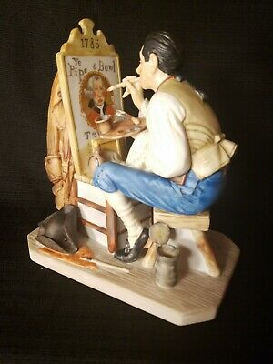 $ CDN71.34 • Buy Gorham OLD SIGN PAINTER Norman Rockwell  Figurine Porcelain LIMITED