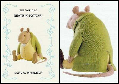 Beatrix Potter ** Samuel Whiskers  ** Toy/doll Tdb  Knitting Pattern  • 20£