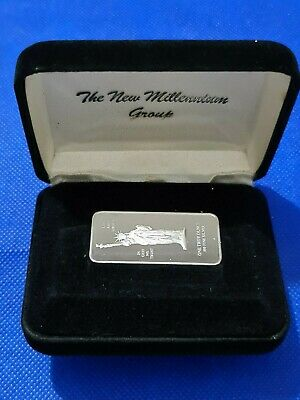 Rare Statue Of Liberty Silver Ingot Bullion Bar 1oz In Presentation Box & COA • 49.99£
