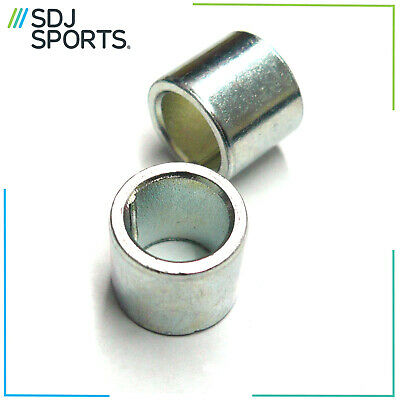 2x 10MM SILVER ALLOY SCOOTER WHEEL CORE AXLE SHIMS FRONT & REAR NEW REPLACEMENT • 2.99£
