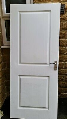 White Wooden Interior Door - Collection Only. • 35£