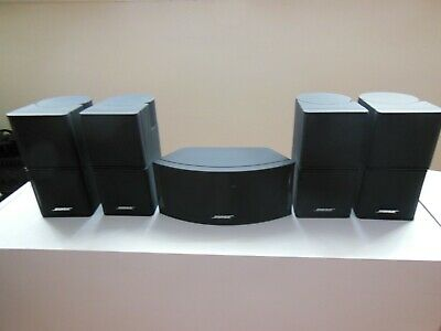 5 X Bose Premium Lifestyle Jewel Cube Speakers Set Black • 295£
