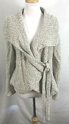 $ CDN32.71 • Buy Anthropologie Sunday In Brooklyn Cardigan Tie Ivory Black Polyester Cotton Large