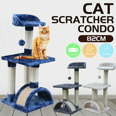 AU37.71 • Buy 82cm Cat Tree Trees Scratching Post Scratcher House Furniture Wood Tower Condo