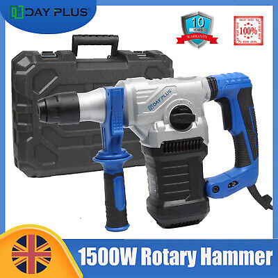 Electric Rotary Hammer Drill SDS Plus 4 Mode Chisel Action Breaker Power 1500W • 68.99£