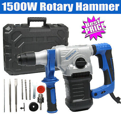 Dayplus Rotary Hammer Drill SDS Plus 4 Mode Chisel Action Breaker 230V 1500W • 68.99£
